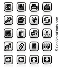 internet Interface Icons - vector icon set