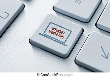 Internet marketing button concept