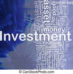 Background concept wordcloud illustration of investment international