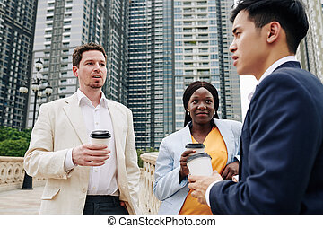 Investors meeting with developer