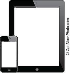 Illustration of New iPad 4 and iPhone 5