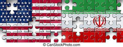 Iran United States Crisis Puzzle