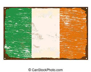 Irish Flag Enamel Sign