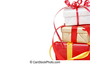 Isolated christmas presents