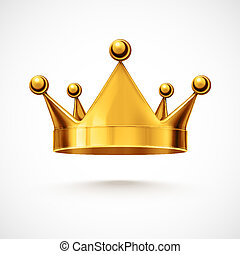 Isolated gold crown, eps 10