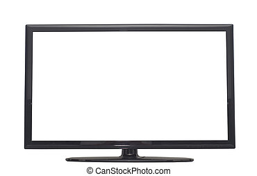 isolated flat screen tv or computer monitor