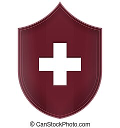 Isolated medical symbol
