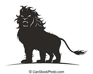 lion standing vector