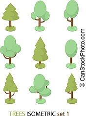 Isometric vector tree set 1