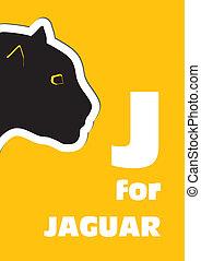 J for the Jaguar, an animal alphabe
