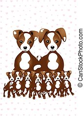 Jack Russell - so much love - illustration made by a family of Jack Russells