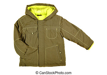 Children's wear - jacket isolated over white background