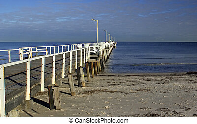 A jetty leading out from the left.
