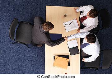 job interview - three business men meeting 1