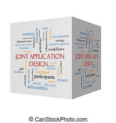 Joint Application 3D Illustration Word Cloud Concept
