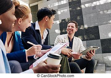 Joyful business team