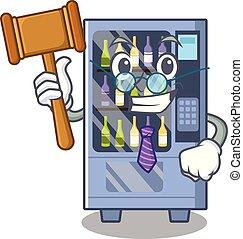 Judge wine vending machine mascot shaped character