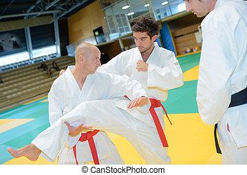 judoka wrestlers heavyweight in judo competition