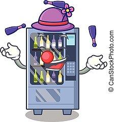 Juggling wine vending machine mascot shaped character
