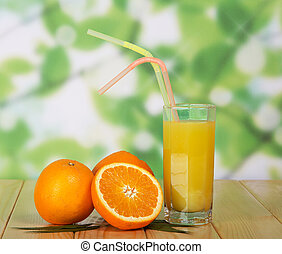 Juice on a wooden table