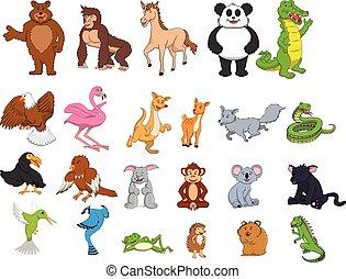Jungle animal cartoon illustration
