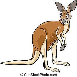 kangaroo animal cartoon illustration