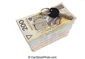 Keys on money