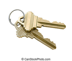Keys isolated on white background with clipping path