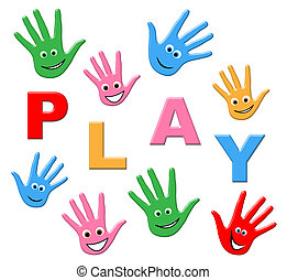 Kids Playing Indicates Free Time And Youth