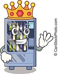 King wine vending machine mascot shaped character