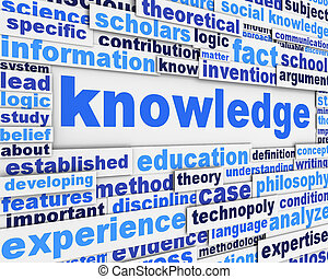 Knowledge poster design