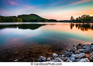 Lake Allatoona at Red Top Mountain State Park north of Atlanta at sunrise
