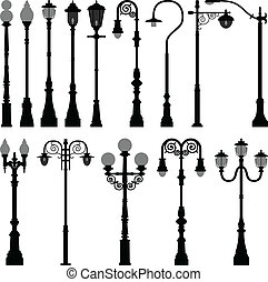 A set of lamp post.