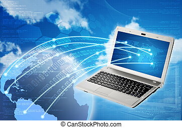 Laptop to Worldwide Connection