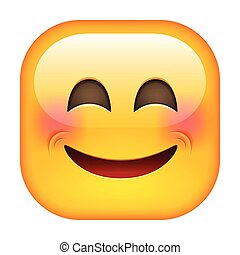 Laughing Emoticon. Happy Smile