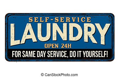 Laundry vintage metal sign
