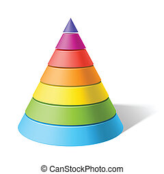 Vector illustration of a layered cone