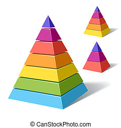 Vector illustration of layered pyramids
