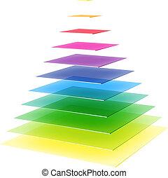 Abstract layered pyramid
