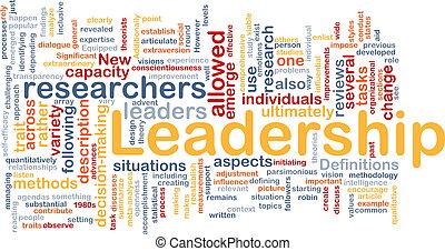 Leadership is bone background concept