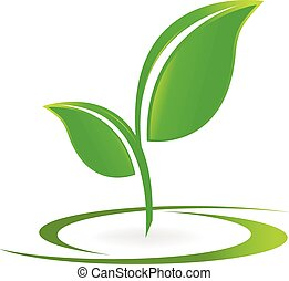Leafs Health nature logo vector
