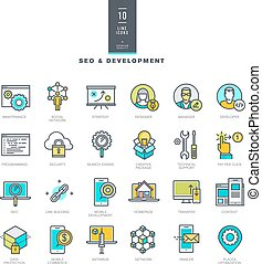 Line color icons for web development