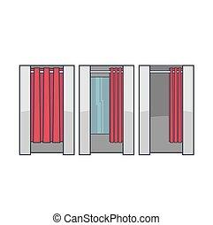 Lineart dressing room