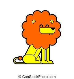 Lion cartoon isolated. Cute Leo Vector illustration