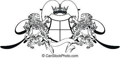 lion heraldic coat of arms tattoo1