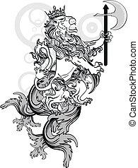 lion heraldic coat of arms tattoo2