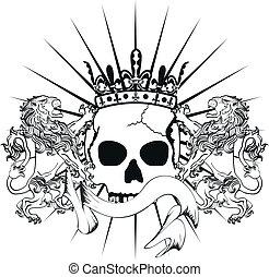 lion heraldic coat of arms tattoo3