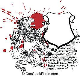 lion heraldic coat of arms tattoo4