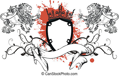lion heraldic coat of arms tattoo5