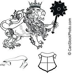 lion heraldic coat of arms tattoo6